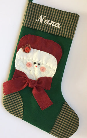 Merry Mrs Claus- Christmas Stocking
