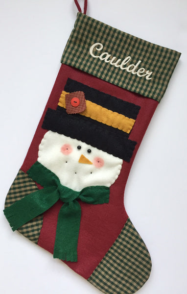 Christmas Stocking- Jack the Snowman