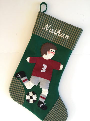 Soccer Christmas Stocking- Boy or Girl