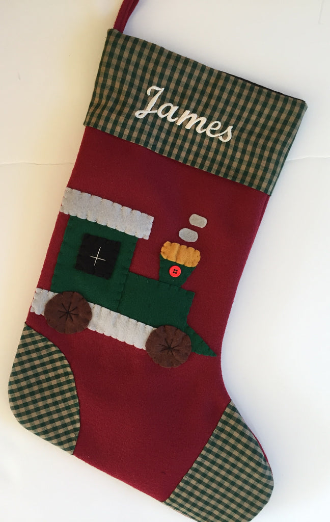 Toot the Train- Christmas Stocking