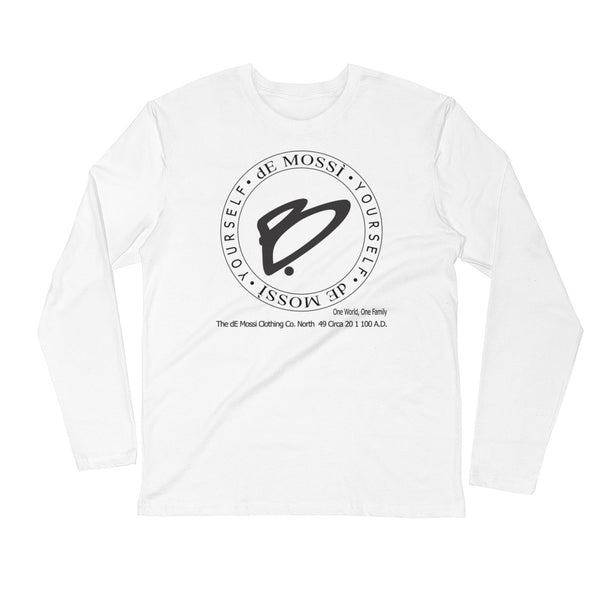 B Yourself Men's Long Sleeve Fitted Crew - The dE Mossì Clothing Co. North 49