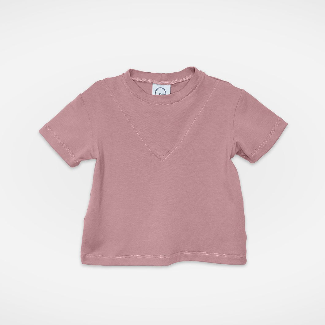 T-shirt à col rond | Rose Antique