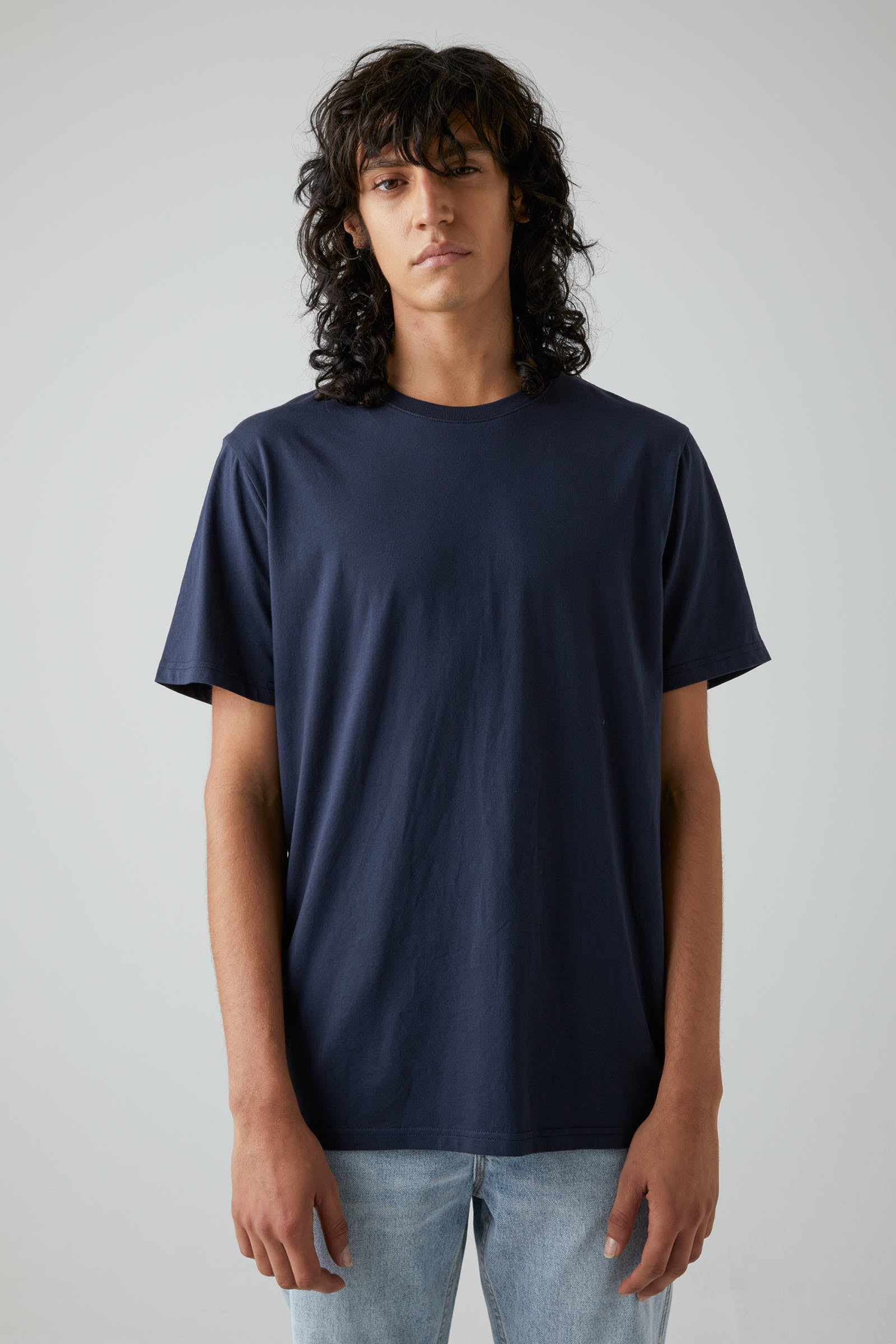 Bass Pima Tee - Navy