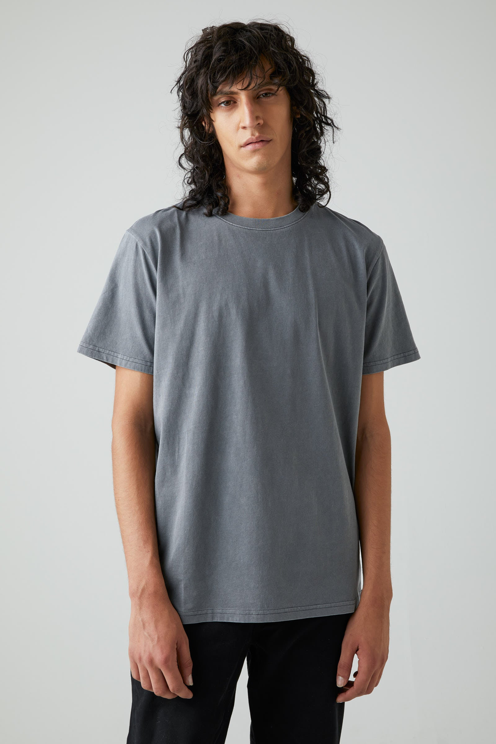 Band Tee - Graphite Grey