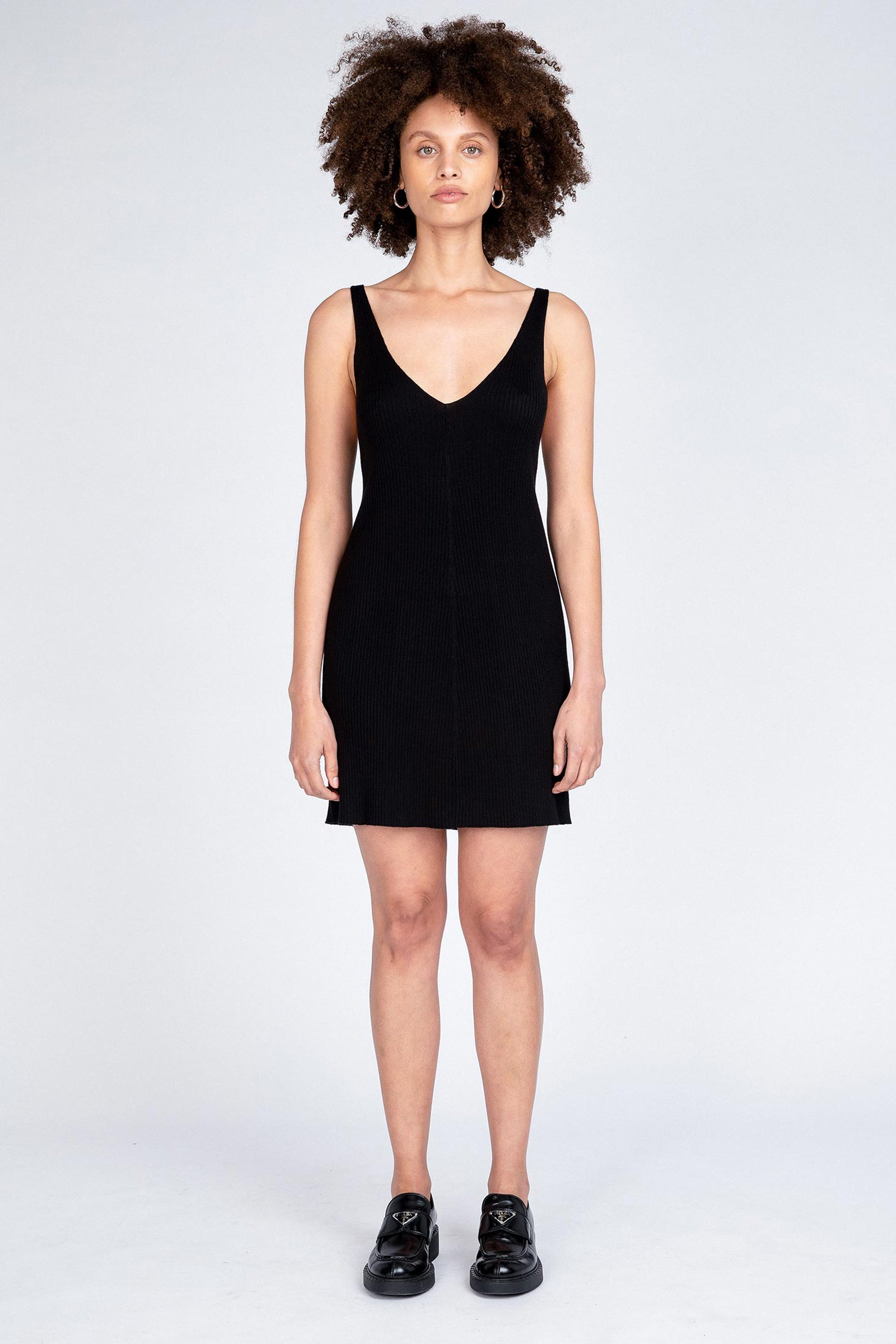 Moves Knit Dress - Black