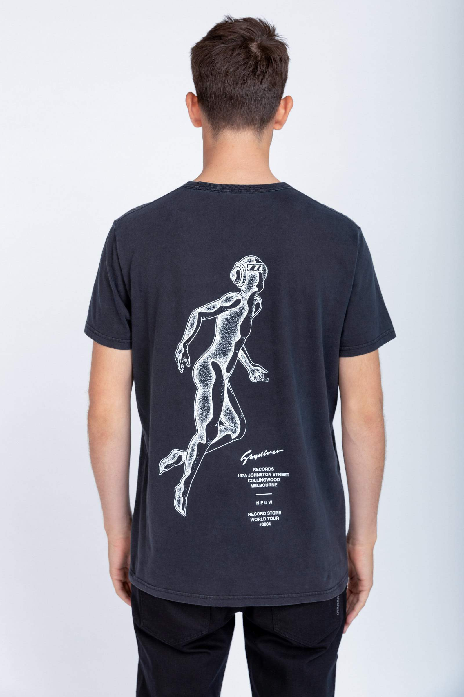 Skydiver Band Tee - Black