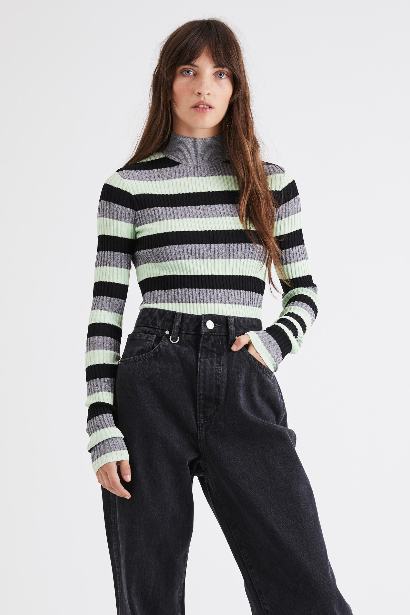 Noughties Knit - Mint Stripe