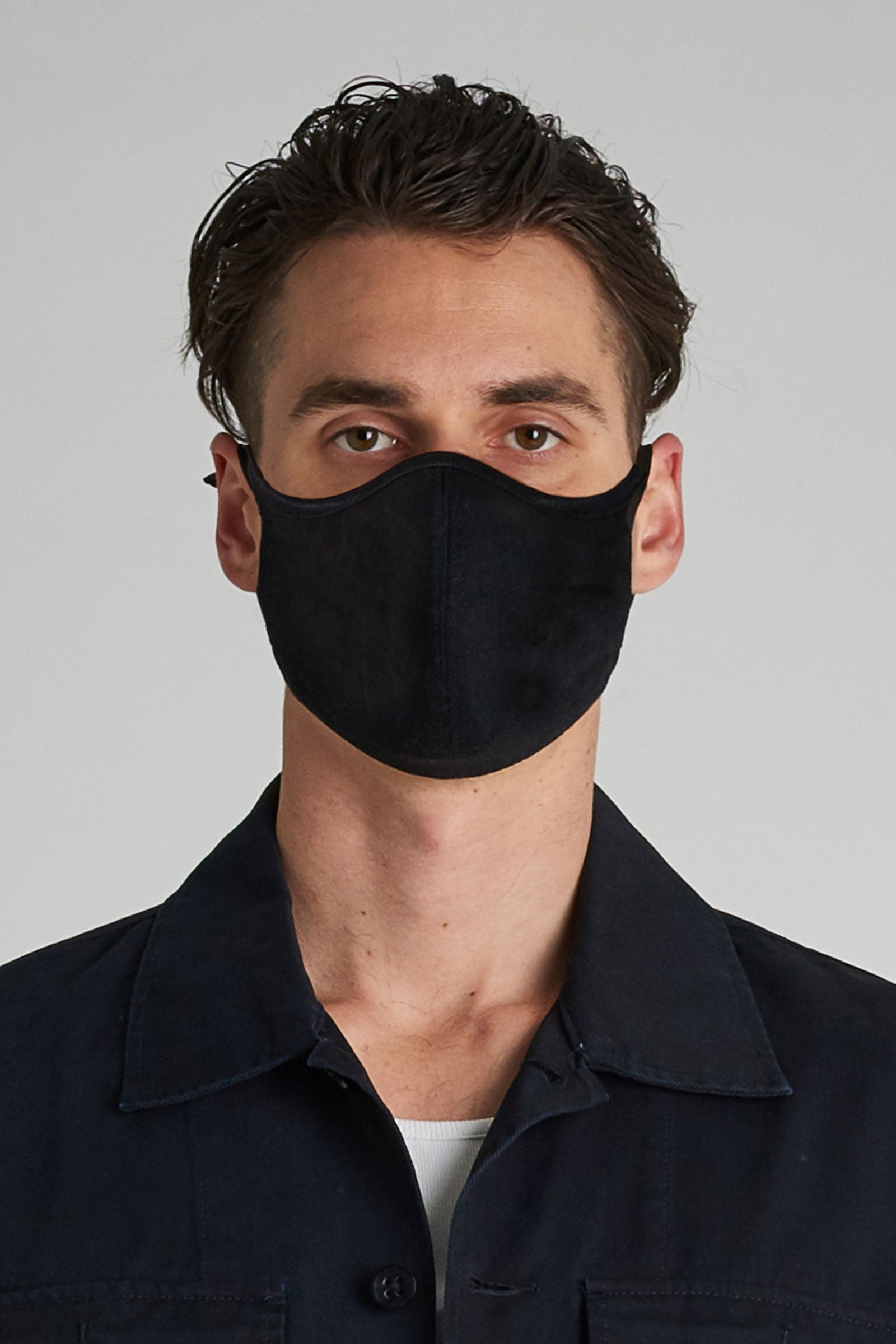 Neuw Simple Face Mask - Black Denim