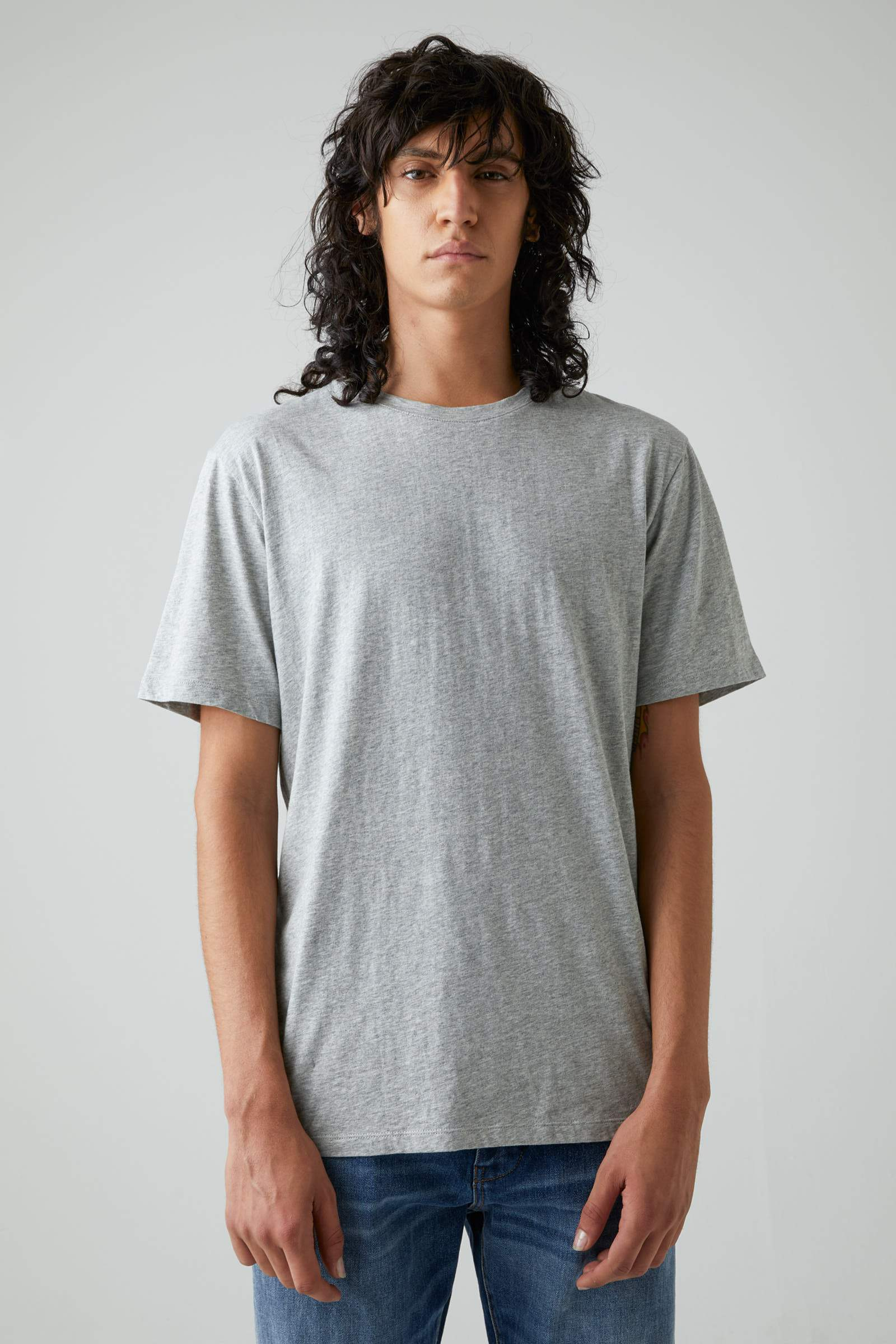 Bass Pima Tee - Grey Marle