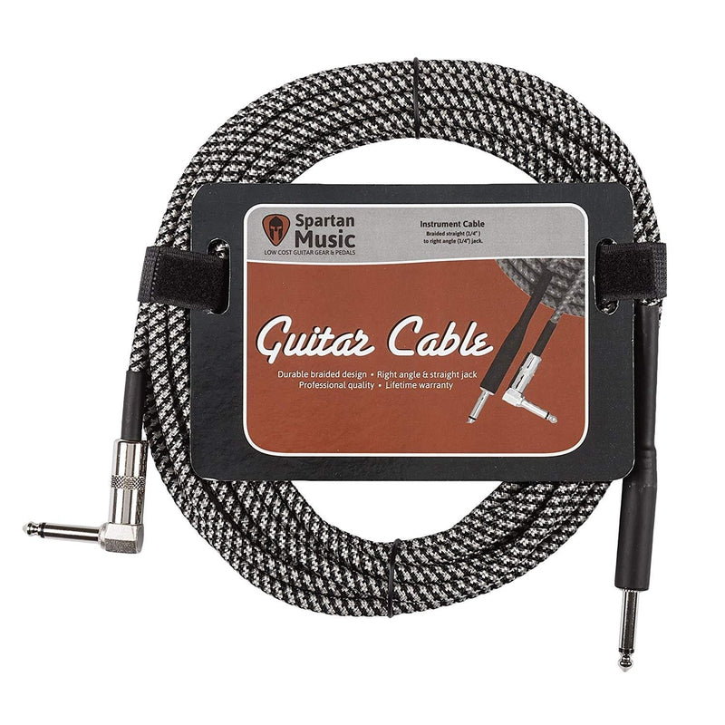 5m Right Angle Braided Guitar Lead Cable