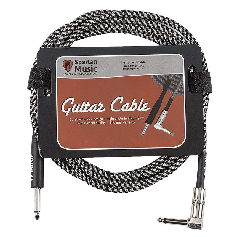 3m Right Angle Braided Guitar Lead Cable