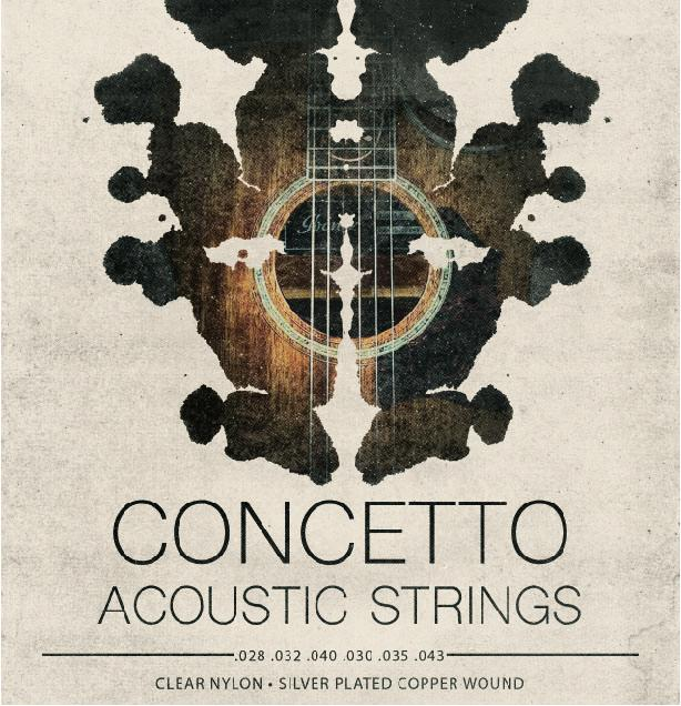 Concetto Regular Light  Acoustic Guitar Strings  .010 - .047