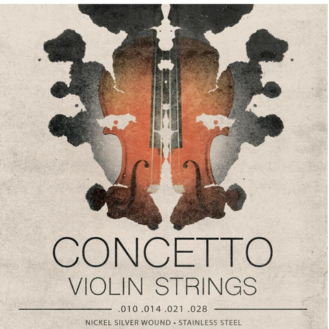 Concetto 4/4 3/4 Violin Strings Regular Tension .010 - .028