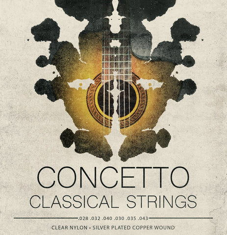 Concetto Classical / Classic Guitar Strings Nylon Regular Tension .028 - .043