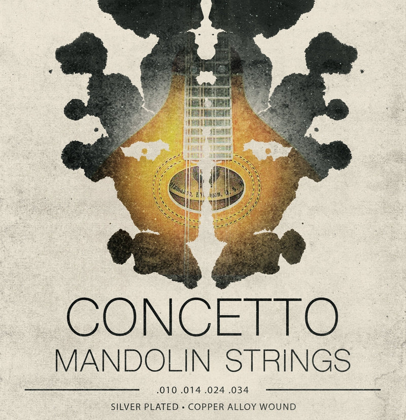 Concetto Light Mandolin Strings .010 - .034