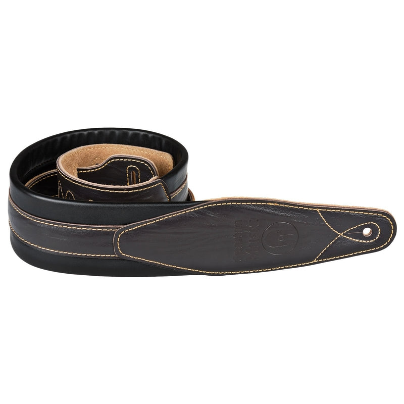 Dark Brown Padded Guitar Strap