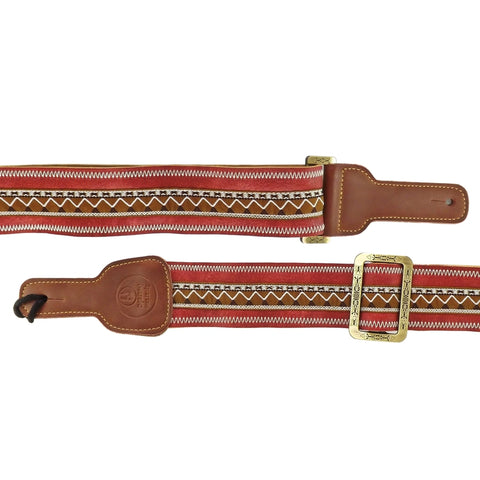 Red Tribal / Aztec Guitar Strap