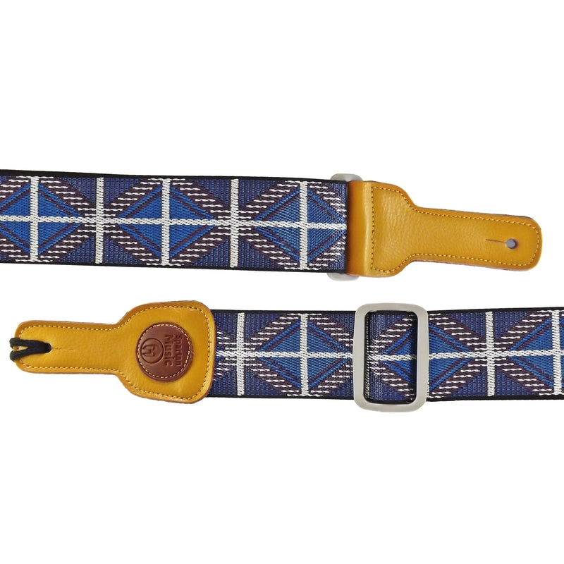 Blue &  Purple Patterned Guitar Strap