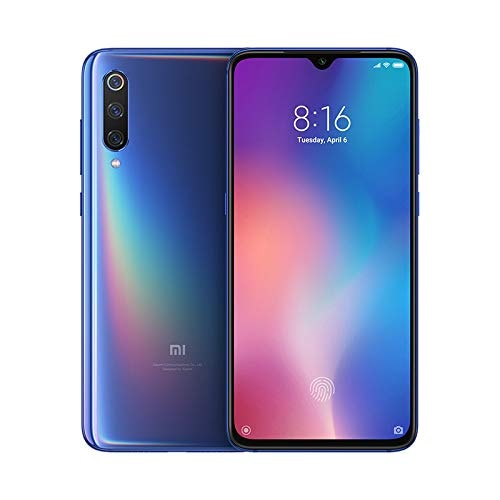 "Xiaomi Mi 9, Global Version. Color Blue Ocean, Dual SIM, 64 hard GB RAM, 6 hard GB RAM, screen 6,39 "", Camera triple"