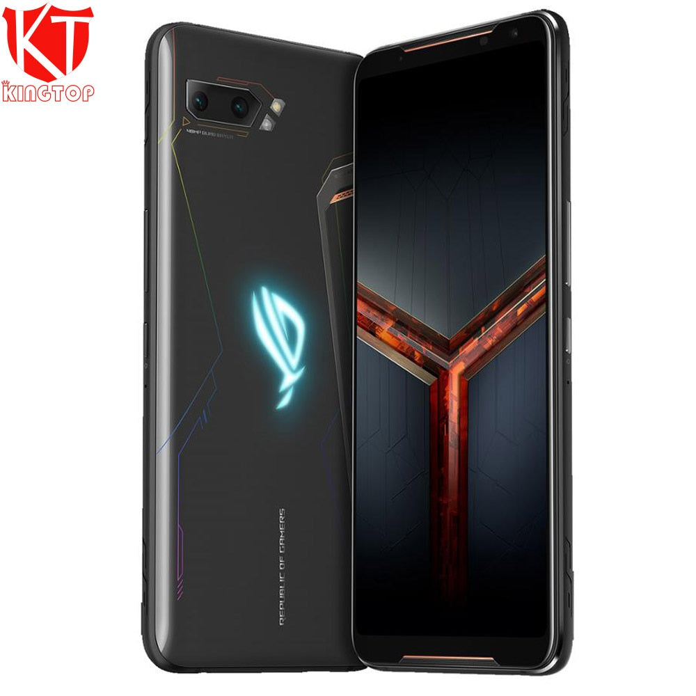 "Global ROM ASUS ROG Phone 2 mobile phone 6.59"" 8GB 128GB Snapdragon 855 Plus 2.96Ghz 48MP Android 9 6000mAh NFC gaming phone"