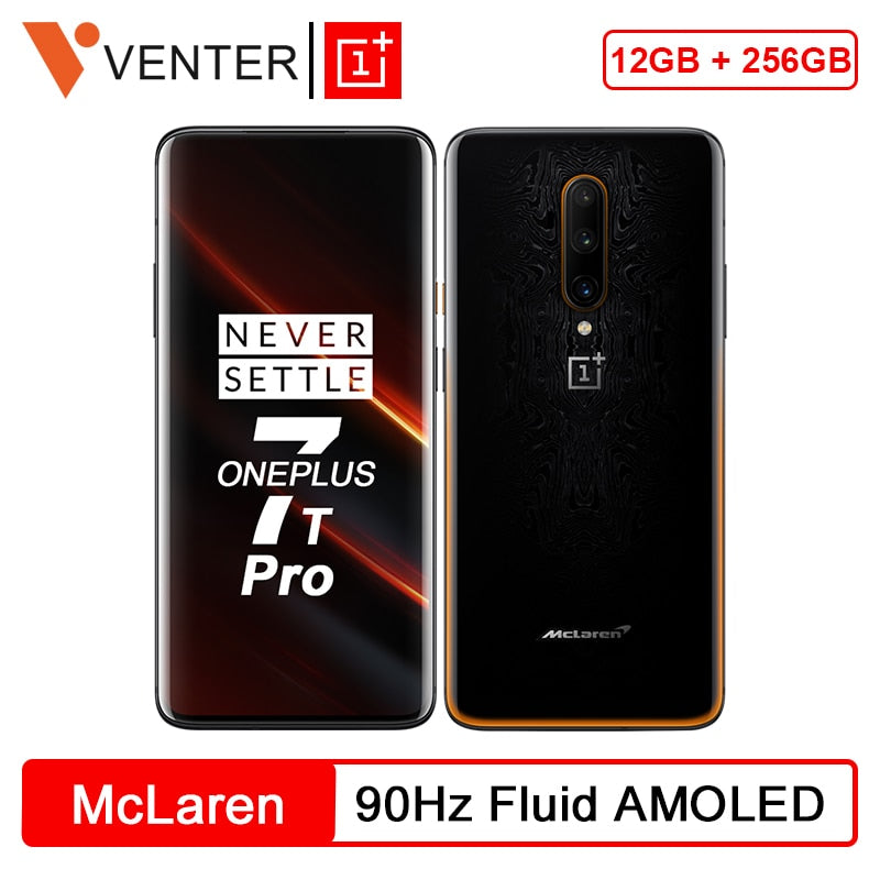 New 2019 Global ROM OnePlus 7T Pro McLaren Edition Snapdragon 855 Plus 12GB 256GB 6.67'' Screen 90Hz 48MP Triple Cameras NFC