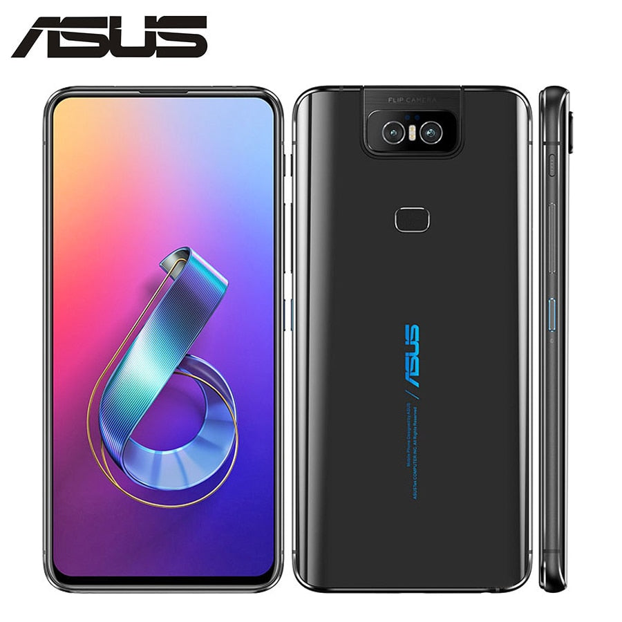 "Brand New Asus Zenfone 6 ZS630KL Mobile Phone 6.4"" 6GB RAM 128GB ROM Snapdragon855 Octacore 5000mAh NFC Android 9.0 Dual SIM"