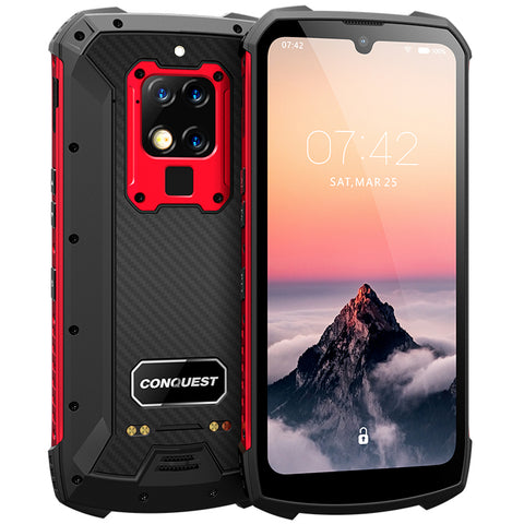"CONQUEST S16 8GB 256GB 48mp shockproof Mobile Phone 6.3"" Android 9.0 UV Detection Infrared Remote Control 4G Rugged Smartphone"