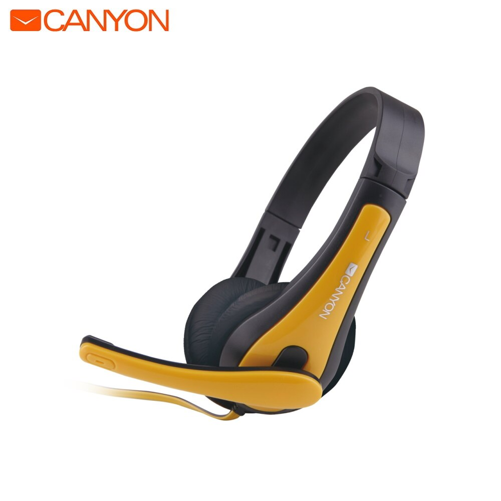 Easy PC headset Canyon CNS-CHSC1BY gaming headphones  headphones for computer accessories for laptop appliances  Microphone Integrated