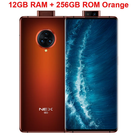 Original vivo Nex 3S Mobile Phone 6.89 inch Unbounded Waterfall Screen 8GB+256GB Snapdragon 865 Camera 64.0MP NFC Smartphone
