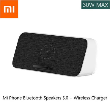 2020 Xiaomi Mi 10 Phone oudspeakers  Wireless Charger Bluetooth Speakers 5.0 Portable Black Xiomi Fast Charge IPhone Samsung USB