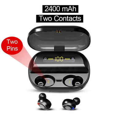 LIGE Touch LED Display bluetooth 5.0 Earphone 4000mAh Power Bank TWS Wireless Waterproof Sport Stereo Earbuds Headset For xiaomi