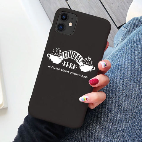 Classic Central Perk Coffee friend tv show how you doin Case for iphone 6s 7 8 Plus Cover for iphone 11 Pro Max XR XS Max X Case