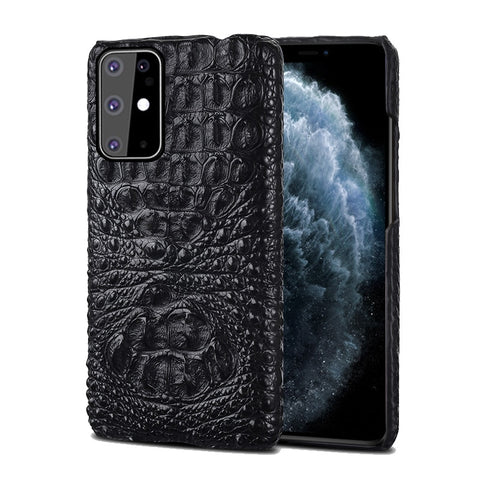 LANGSIDI Leather case For Samsung s20 plus ultra A50 a30 a70 s10e Original Crocodile cover For Galaxy Note 10 plus a7 a8 2018 a9