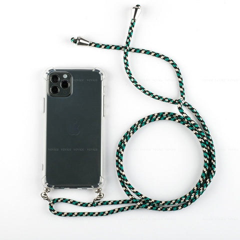 Clear Cases With Rope Crossbody Lanyard For iPhone11Pro Max 11pro 8 7 6 S 6S Plus 11 Necklace Cord Hang Shoulder Strap Case