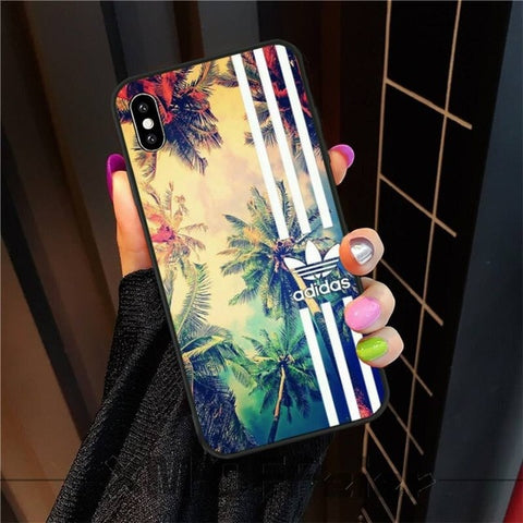 OFFeier luxury brand letter label Soft Silicone TPU Phone Cover For iphone6 6s plus 7 8 7 8 plus X XR XS MAX 11 Pro Max Cover