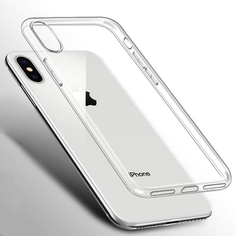 Quzong Clear Phone Case For iPhone X XR XS Max 7 8 Plus 11 Pro Max UltraSlim Soft Silicon TPU Protective Transparent Cases Cover