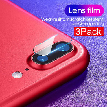 3PCS Tempered Glass Camera Lens For iPhone XR Xs Max 7 8 Plus Screen Protector Lens Back Protection Film For iPhone X 10 7plus