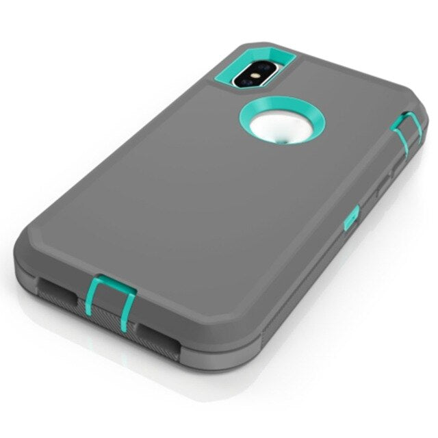 Three-In-One Explosion-Proof Robot Mobile Phone Case For Apple Iphone Protective Case Shockproof Protective Cover