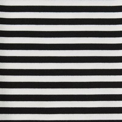 stretch stripes black and white polyester