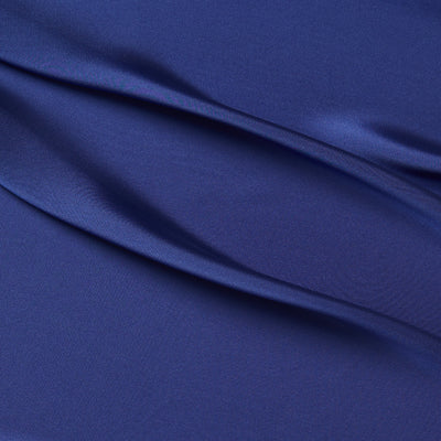 satin chiffon Micro polyester Deluxe cobalt