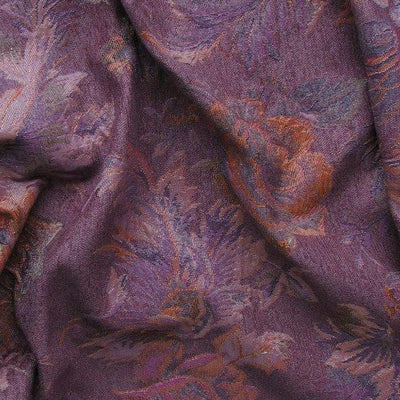 Donna purple floral brocade lurex