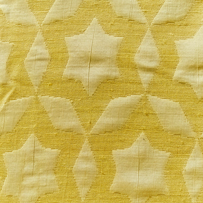 fame gold Raw silk with geometric star jacquard
