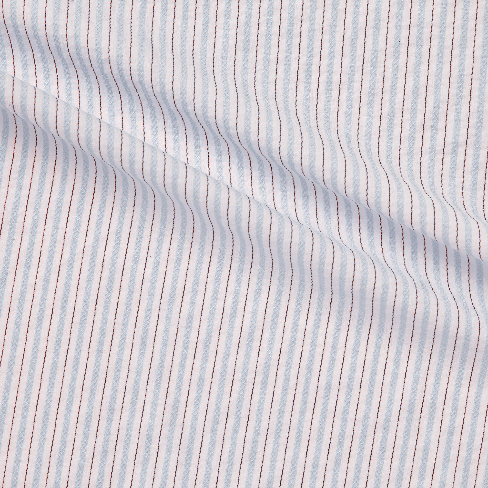 gap blue Pencil striped stretch cotton stitch detailing