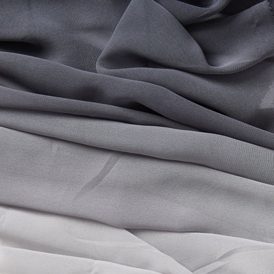 ombre grey ombre dyed polyester