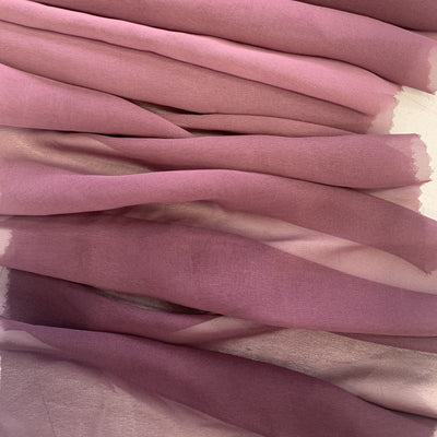 ombre pink ombre dyed polyester