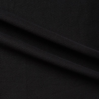 pique black stretch cotton twill