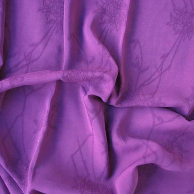 Replay plum Rayon Georgette Jacquard Replay Plum