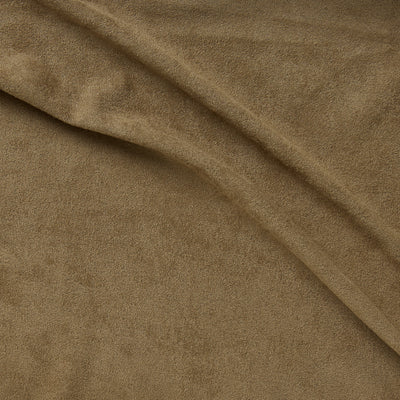 super suede tan stretch polyester vegan suede