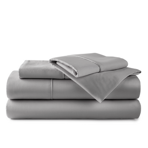 Set of 100% organic bamboo sheets in the color Grey
