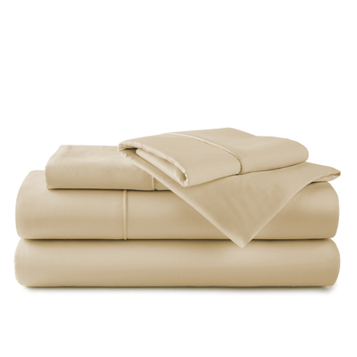 Sand organic bamboo bed sheets